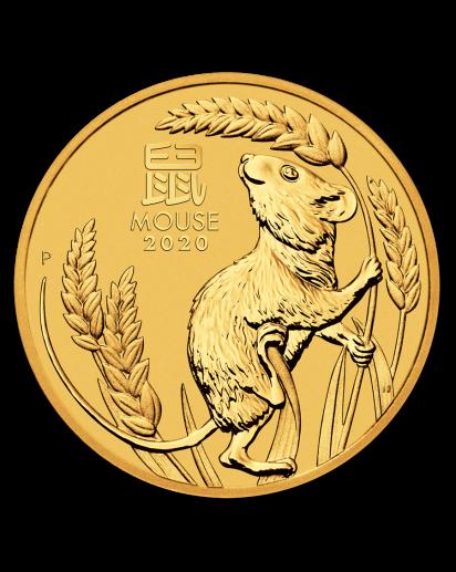 Australien 2020 Jahr der Maus Lunar Serie III Gold 1/20 oz