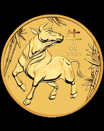 Australien 2021 Jahr des Ochsen Lunar Serie III Gold 1 oz