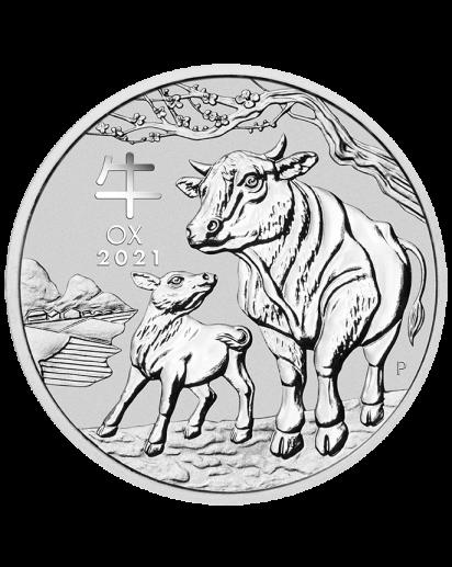Australien 2021 Jahr des Ochsen Lunar Serie III Silber 1/2 oz