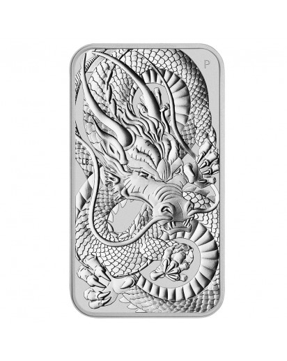 Australien 2021  Rectangle Dragon - Drache Silbermünze - Münzbarren 1 oz