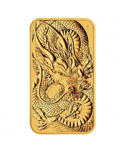 Australien 2021  Rectangle Dragon - Drache Goldmünze - Münzbarren 1 oz