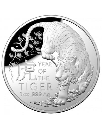 Australien 2022  RAM  Jahr des Tigers Lunar - Serie Silber 1 oz PP