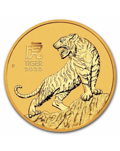 Australien 2022 Jahr des Tigers Lunar Serie III Gold 1/4 oz