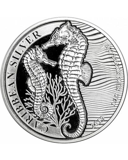 Barbados 2019 Seahorse - Seepferd Silber 1 oz