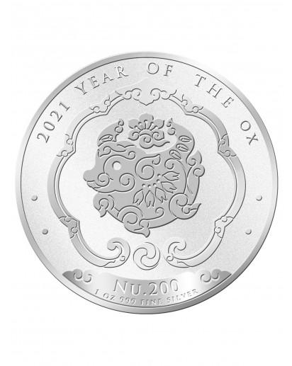 Bhutan 2021  Lunar Ochse  Silber 1 oz