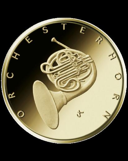 BRD 2020  Orchesterhorn   Gold 50 Euro Prägestätte Stuttgart F