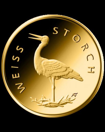 BRD 2020   WEISSSTORCH - Storch  Serie: Heimische Vögel 20 € Goldmünze A  = Berlin