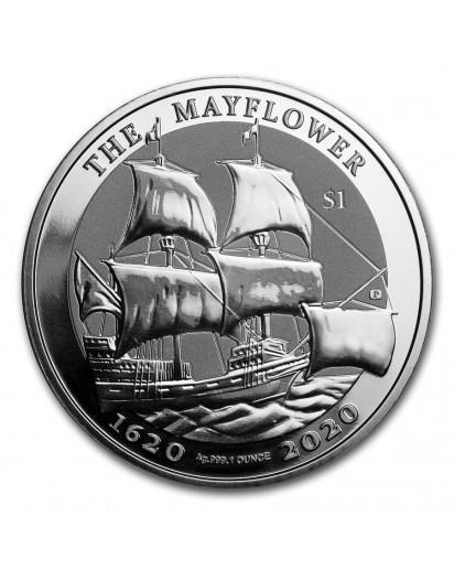 British Virgin Island 2020  THE MAYFLOWER  Silber 1 oz