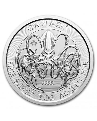 Canada 2020  KRAKEN - Old Monster Legends Silber 2 oz