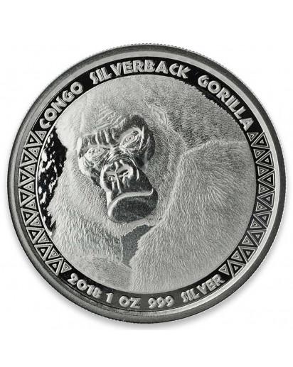 Congo 2018 Silberrücken Gorilla Silber