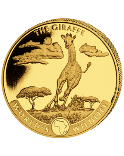 Congo 2019   GIRAFFE - World`s Wildlife Serie Gold 1 oz - Kongo