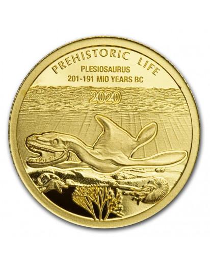 Kongo  2020 Plesiosaurus - Dinosaurier  Gold 0,5 g  Congo