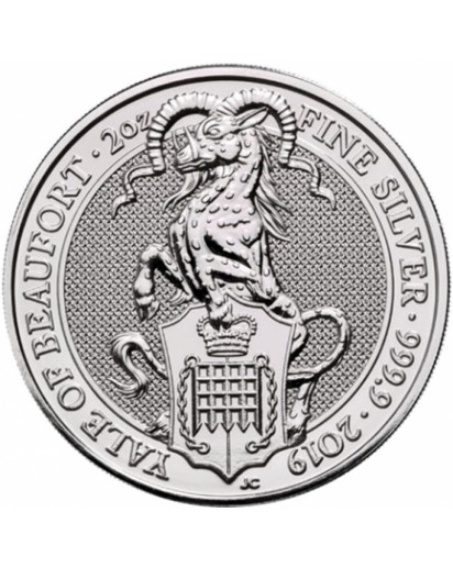 GB 2019   Queens Beast  The Yale of Beaufort  Silber 2 oz