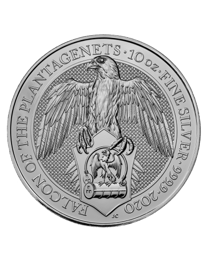 GB 2020   Queens Beast  Falcon of the Plantagenets Silber 10 oz