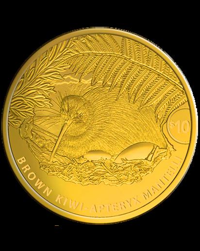 Neuseeland 2021  Brauner Kiwi  Gold 1/4 oz