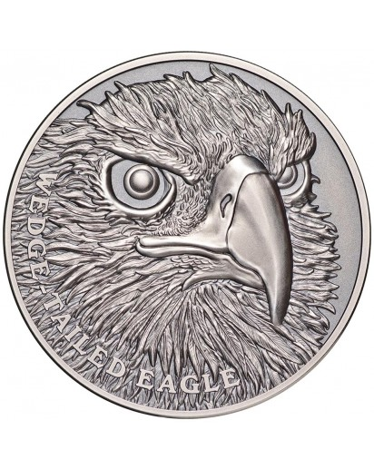 Niue 2019  Wedge Tailed Eagle - Serie Wildlife Ultra High Relief Silber 1 oz