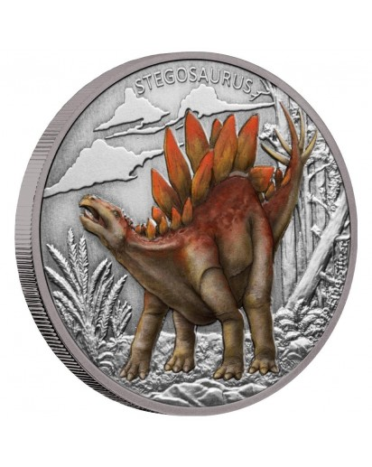 NIUE 2020 Stegosaurus Silber 1 oz
