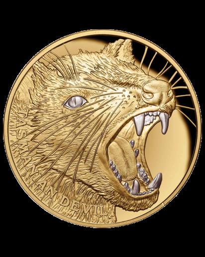 Niue 2020  Tasmanischer Teufel - Serie Wildlife Gold 1 oz PP mit Platinbeschichtung