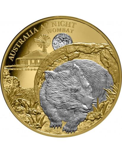 Niue 2021  WOMBAT  Serie: Australien bei Nacht Gold mit Platin 1 oz