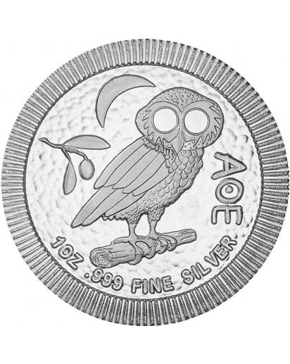 Niue 2021    Eule von Athen  Silber 1 oz