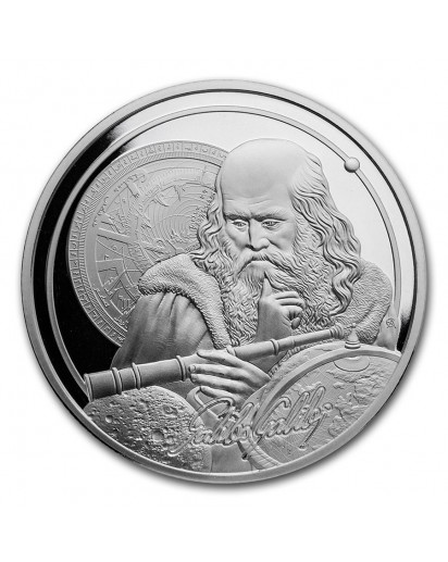Niue 2021    Icons of Inspiration - Galileo  Silber 1 oz