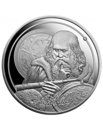Niue 2021    Icons of Inspiration - Galileo  Silber 1 oz   polierte Platte - PP