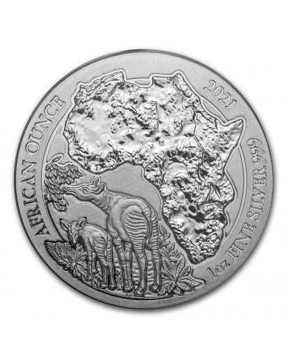 Ruanda 2021 OKAPI  1 oz Silber