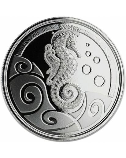 Samoa 2019  Seepferdchen - Seahorse  Silber 1 oz