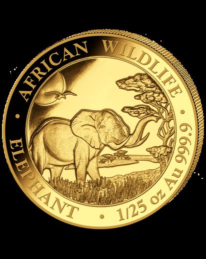 Somalia 2019   Elefant    Gold 1/25 oz