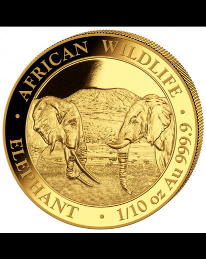 Somalia 2020  Elefant  Gold 1/10 oz