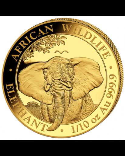 Somalia 2021  Elefant  Gold 1/10 oz
