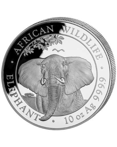 Somalia 2021  Elefant 10 oz Silber