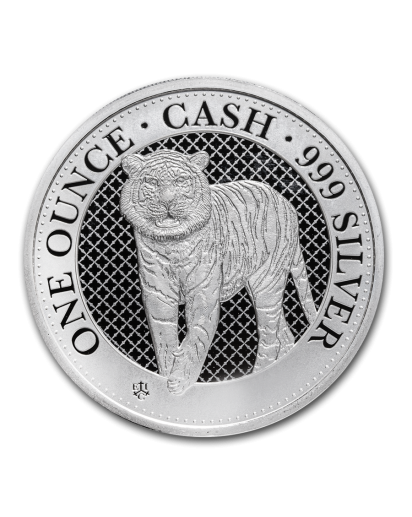 St. Helena 2019  Cash India Wildlife - The Bengal Tiger Silber 1 oz