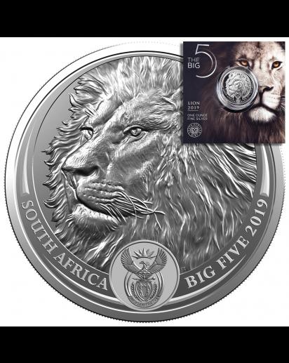 Südafrika 2019  BIG FIVE - LÖWE Silber 1 oz