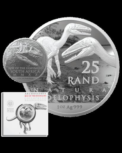 Südafrika 2020  Natura Archosaurier - Coelophysis Silber 1 oz