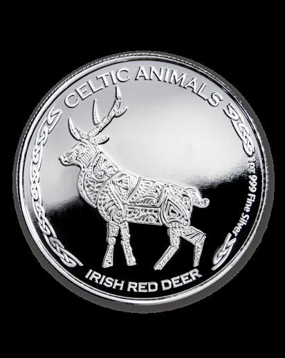 Tschad 2019  Celtic Animals Irish Red Deer Silber 1 oz