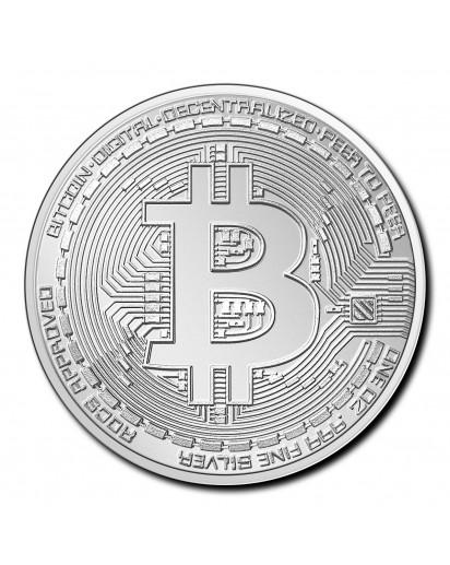 Tschad 2020  Crypto Bitcoin Silber 1 oz