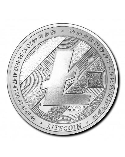 Tschad 2020  Crypto Litecoin Silber 1 oz