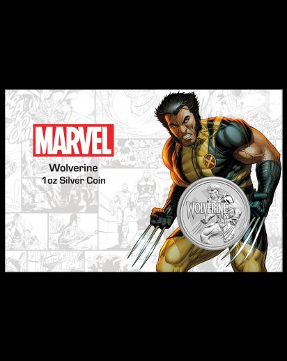 Tuvalu 2021  Marvel  WOLVERINE  Silber 1 oz  BLISTER