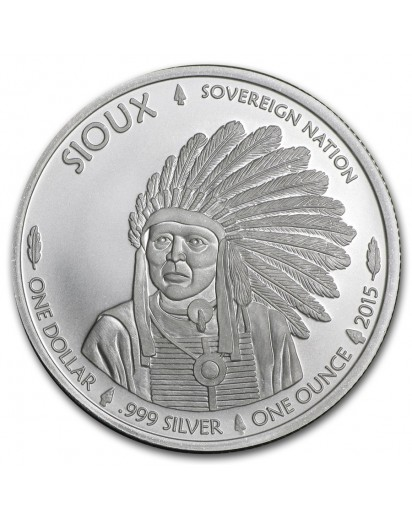 USA 2015  Sioux Indian War Chief  Silber 1 oz