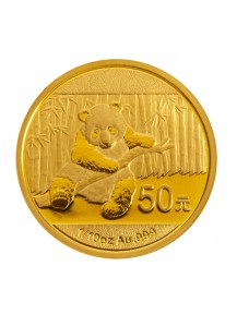 China 2014  Panda  Gold 1/10  oz