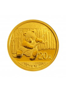 China 2014  Panda  Gold 1/20  oz
