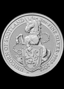 GB 2018   Queens Beast  Einhorn - Unicorn  Silber 2 oz