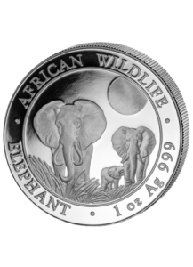 Elefant 2014 Somalia 1 oz Silber