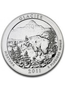 USA 2011 Glacier Nationalpark Montana 5 oz Silber  America the Beautiful