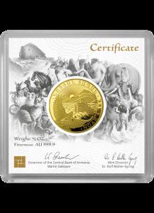 Armenien 2021  Arche Noah Gold 1/2 oz