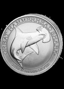Australien 2015 Hammerhai - Hammerkead Shark Silber 1/2 oz
