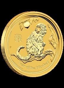 Australien 2016   Jahr des Affen   Lunar II   Gold 1/10 oz