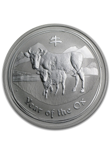 Australien 2009 Jahr des Ochsen Lunar II Silber 1 oz