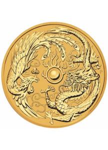 Australien 2018  Drache und Phönix  Gold 1 oz  - Dragon and Phönix